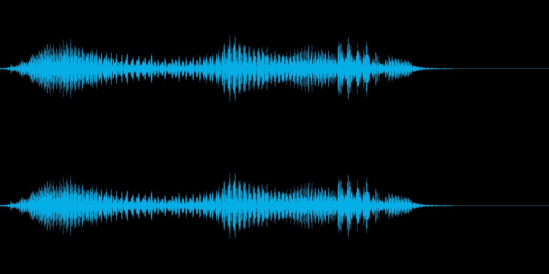 うぐっ!!の再生済みの波形