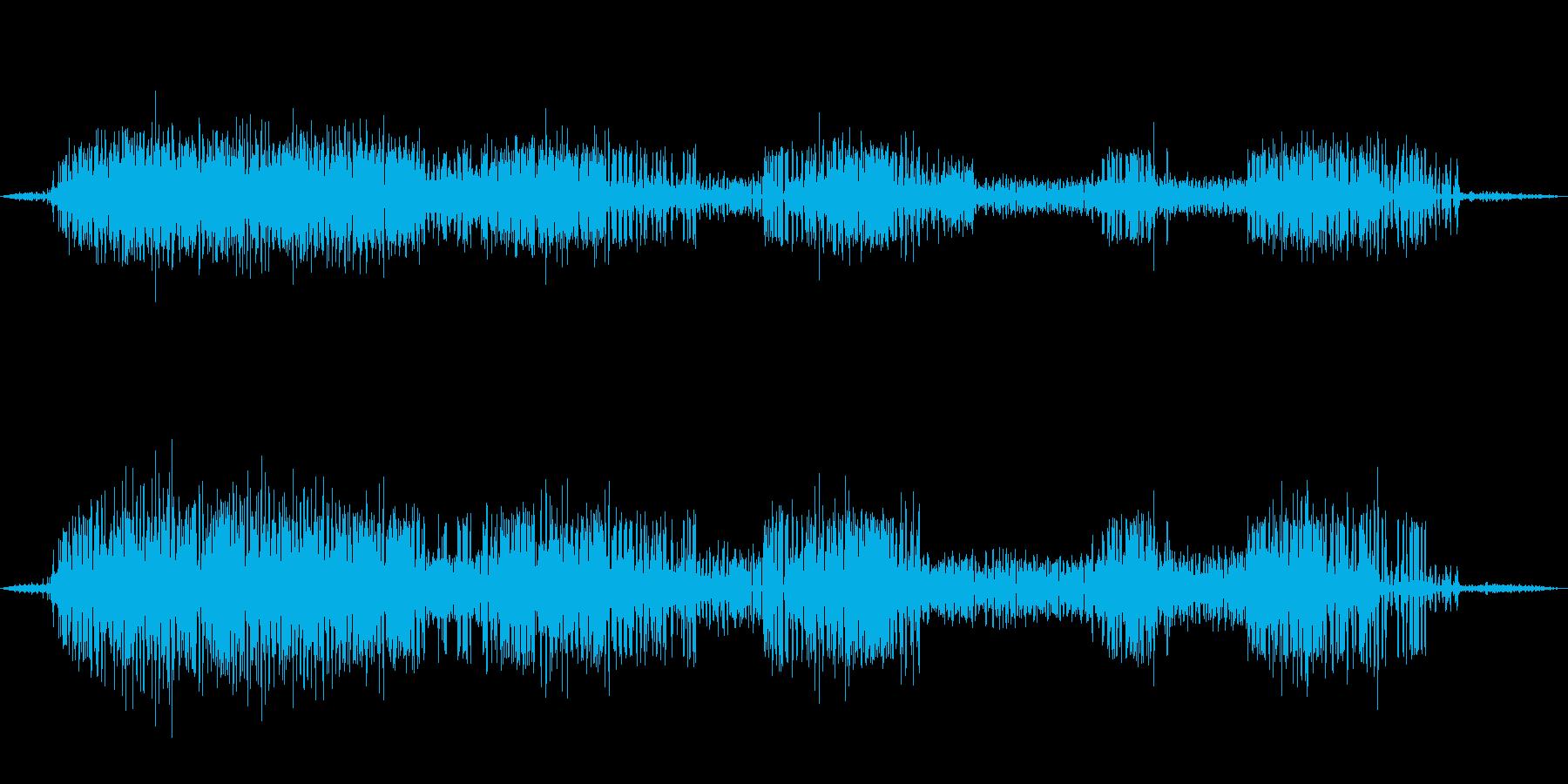 【自然音】カエルの鳴き声01(安曇野)の再生済みの波形