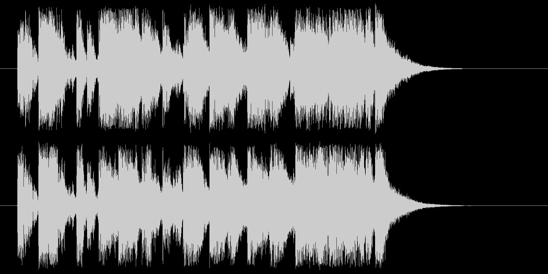 ジングル、場面転換等に!ピアノ&ドラムの未再生の波形