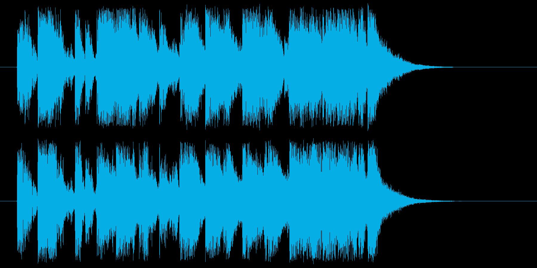 ジングル、場面転換等に!ピアノ&ドラムの再生済みの波形