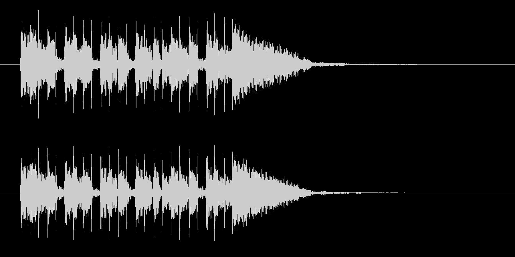 シンプルでキャッチ―なエレキジングルの未再生の波形