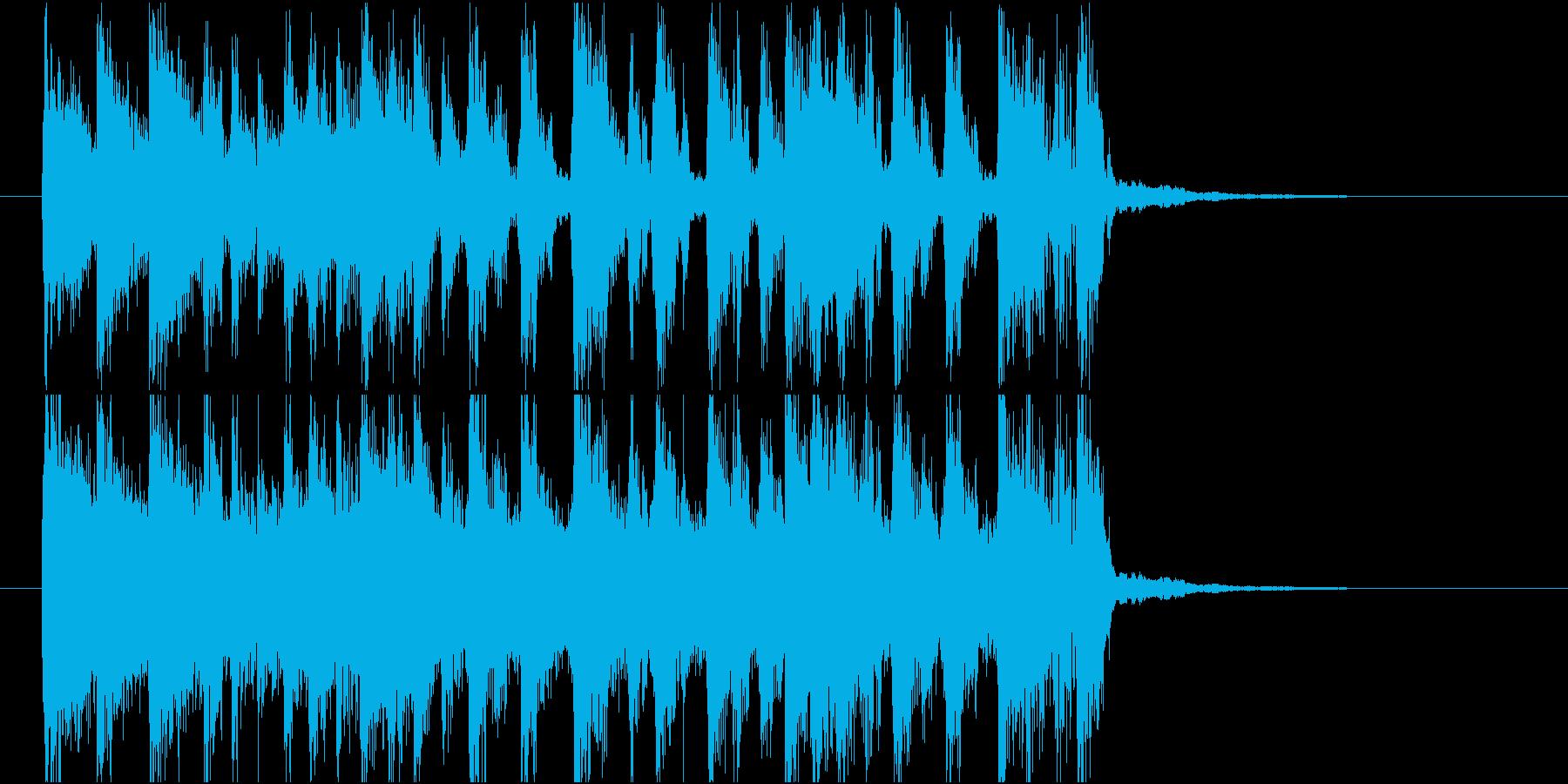 【ジングル】オルガン主体のバンド曲の再生済みの波形