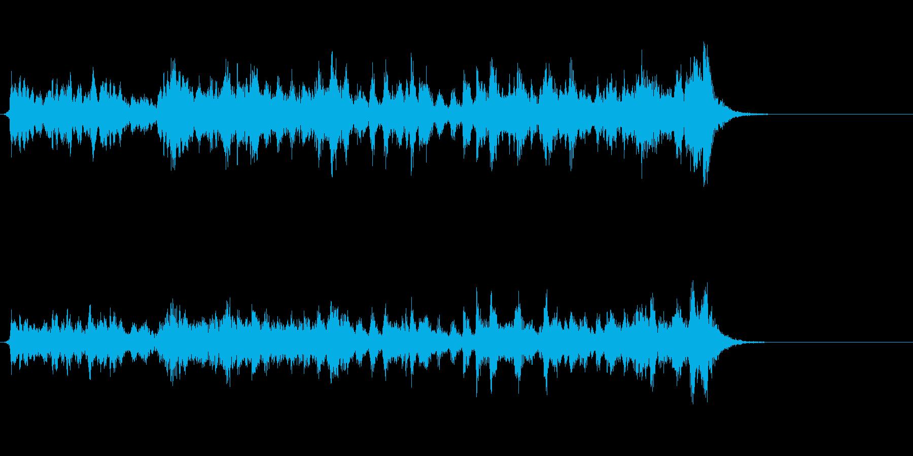 ワクワクするホルンのファンファーレの再生済みの波形
