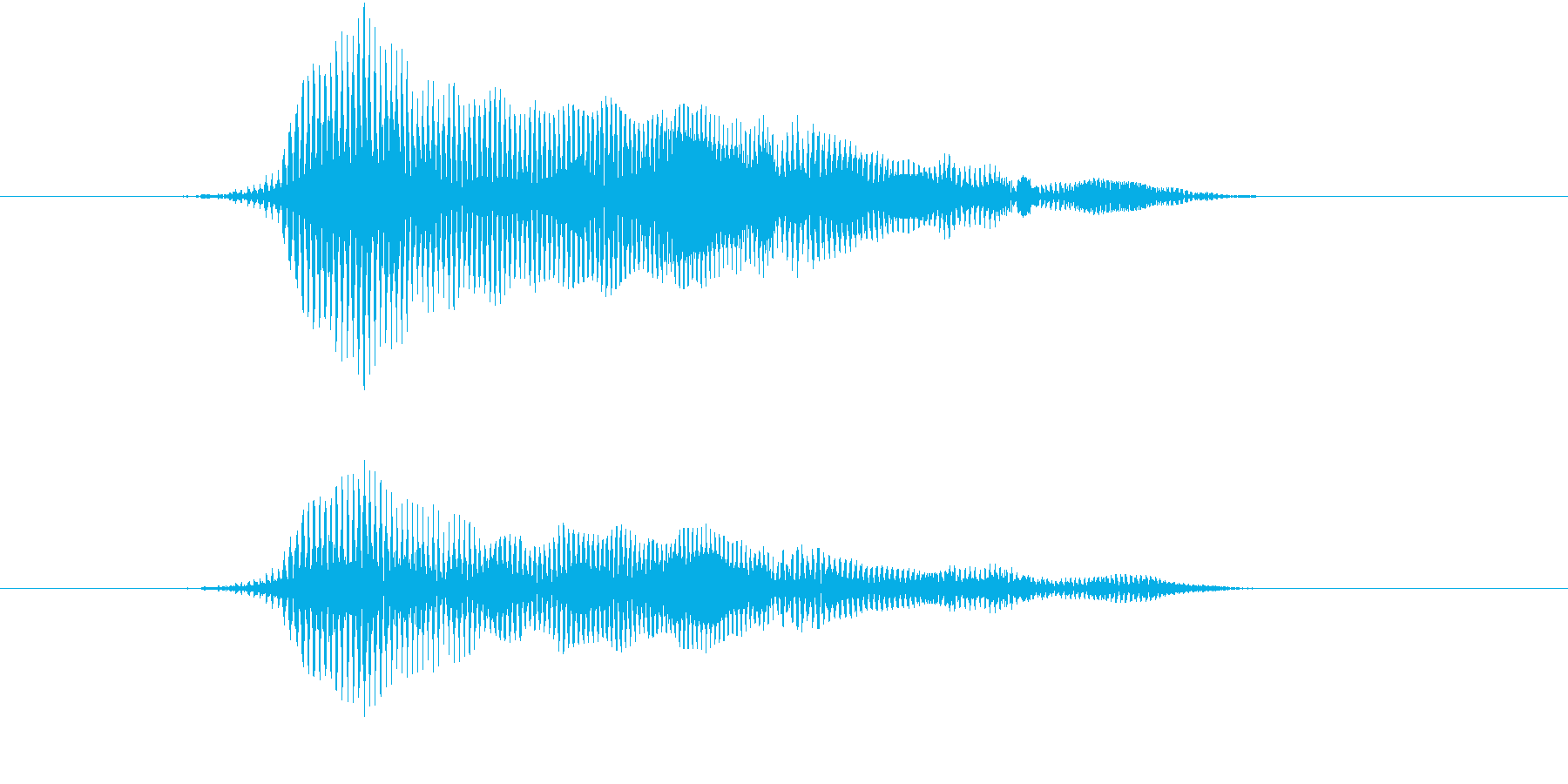 「猫の鳴き声004」にゃーおver3の再生済みの波形