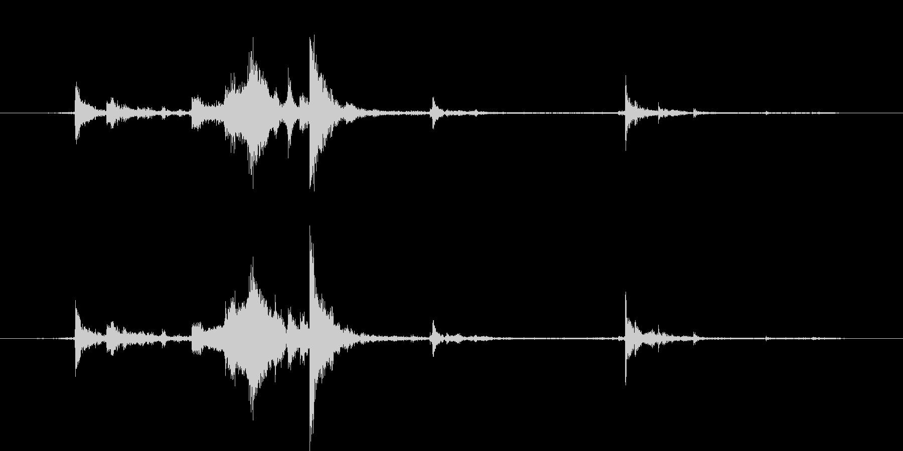 カギを入手した音・チャキッという金属音3の未再生の波形