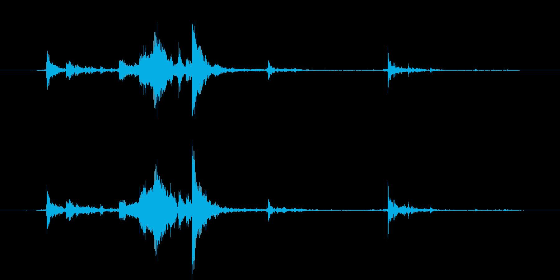 カギを入手した音・チャキッという金属音3の再生済みの波形