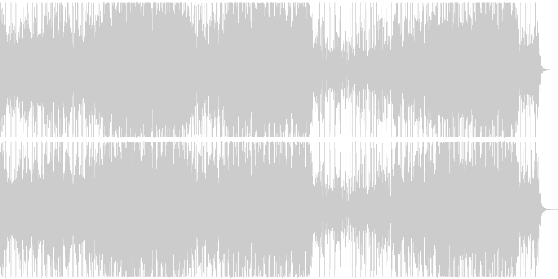 哀愁漂うインストミディアムバラードの未再生の波形