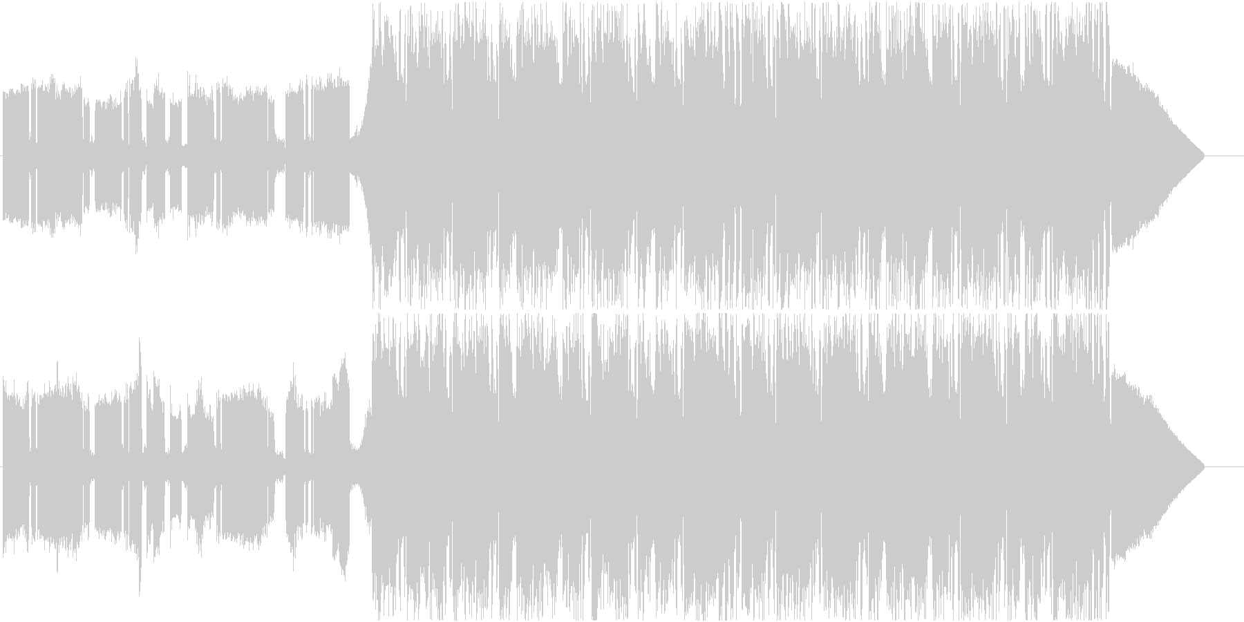 EDMドロップの未再生の波形