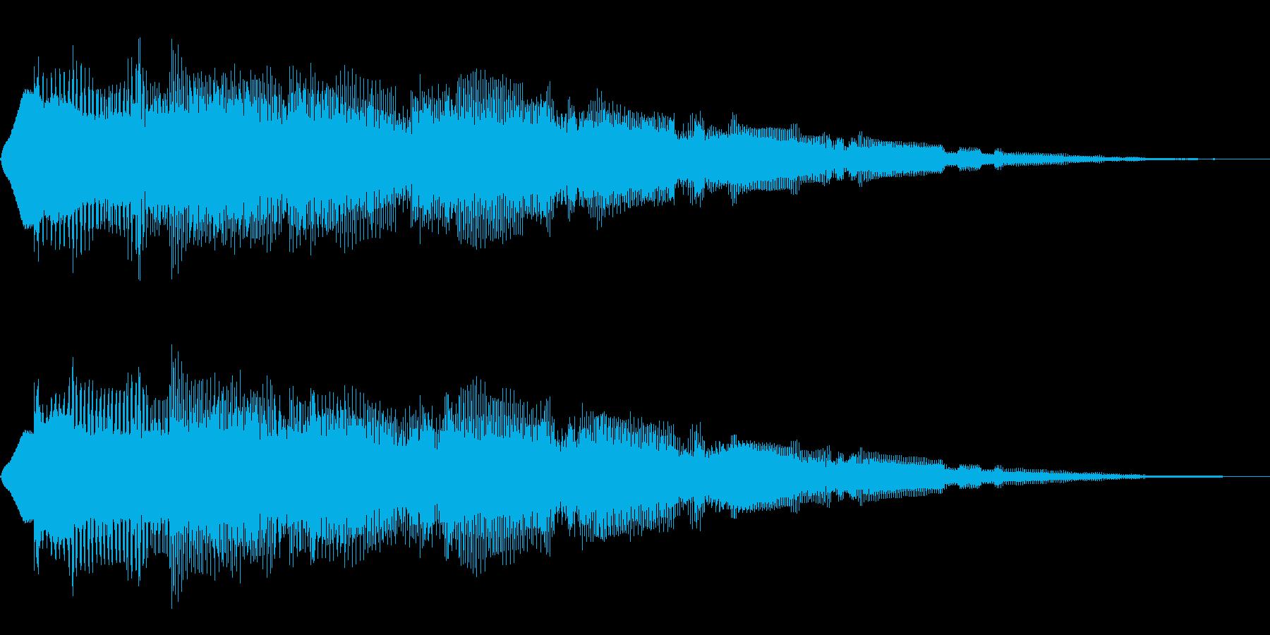 決定(8bit風)の再生済みの波形