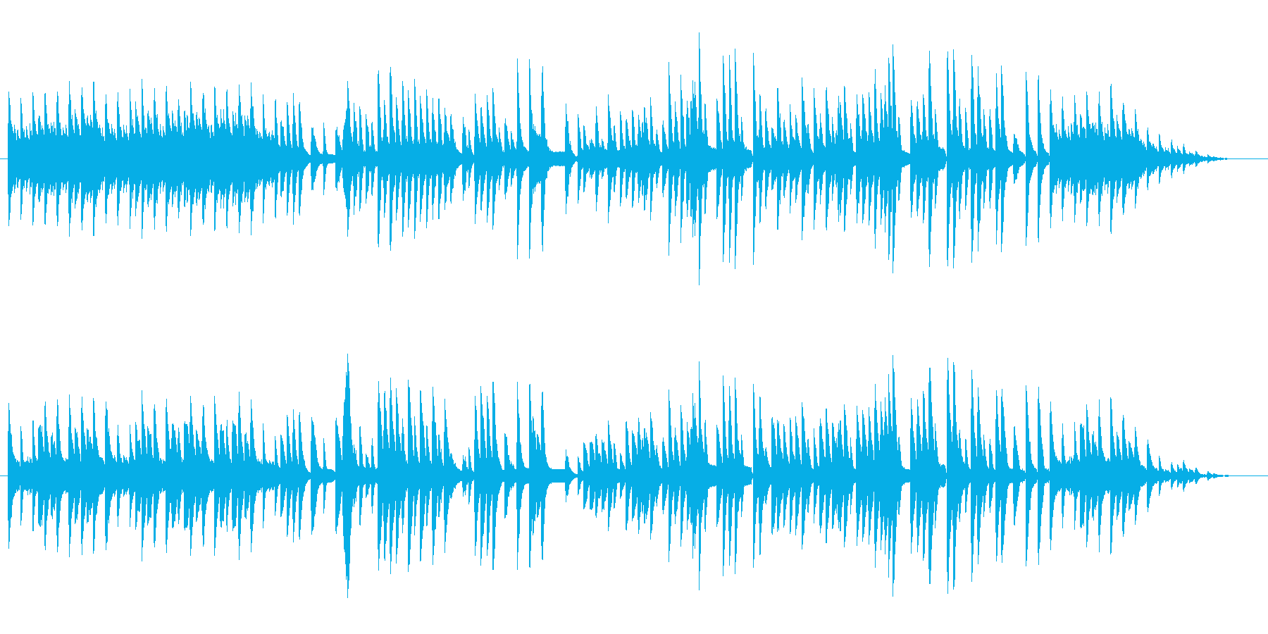 8bit -亡き王女のためのパヴァーヌ-の再生済みの波形