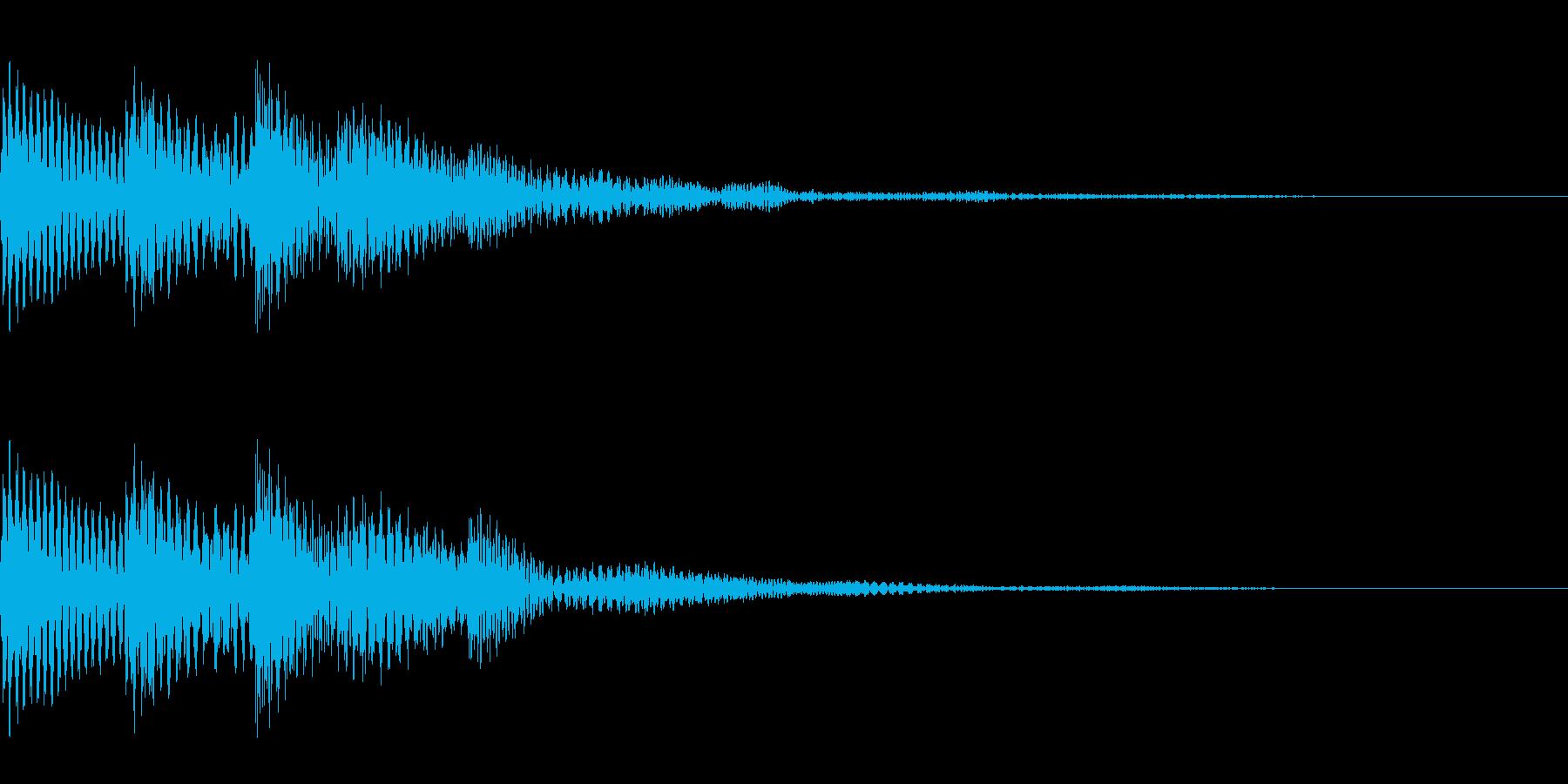 コロッとしたかわいいタッチ音です。の再生済みの波形