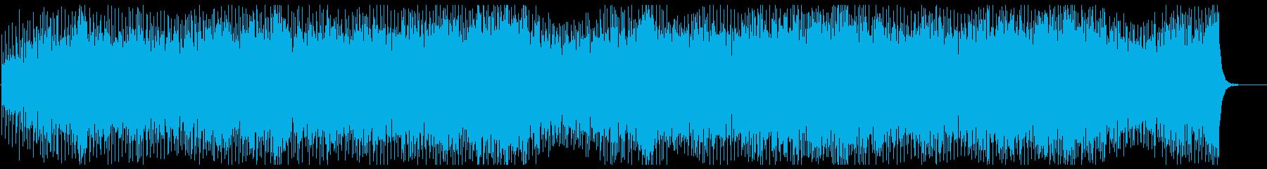 アップテンポのキラキラシンセサイザーの曲の再生済みの波形