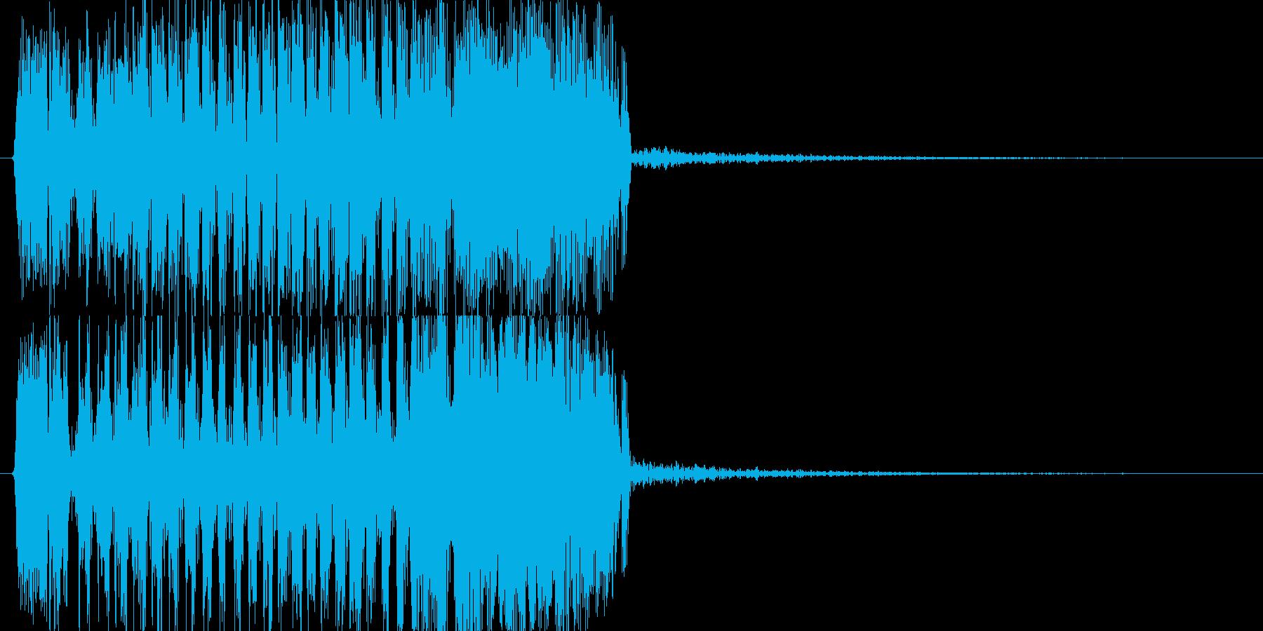 モンスターの鳴き声(鳥系2)の再生済みの波形