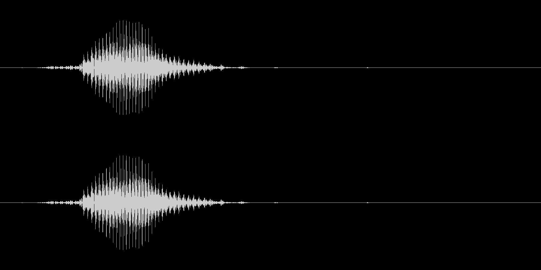 ロン(麻雀)の未再生の波形