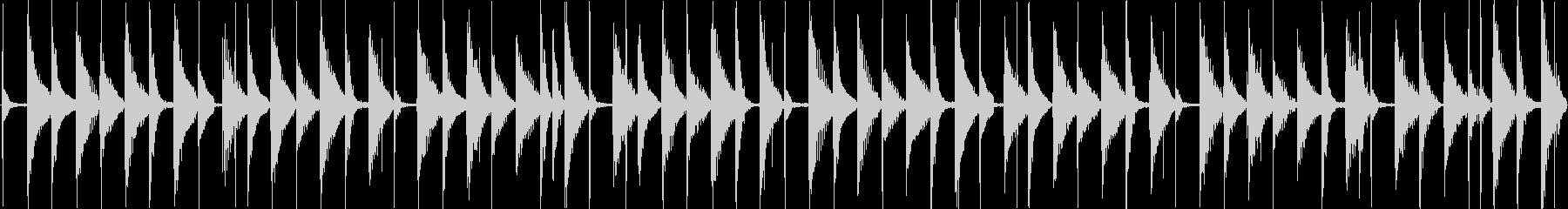 軽快な日常系エレクトロポップの未再生の波形