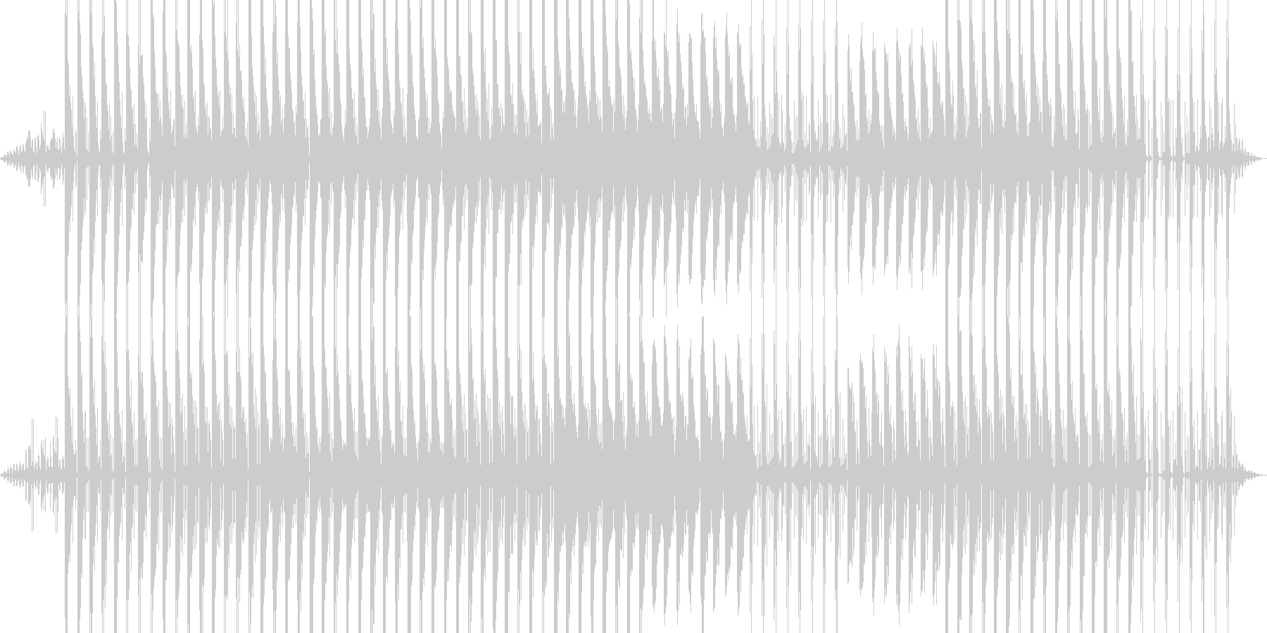 まったり暖かいイメージの未再生の波形