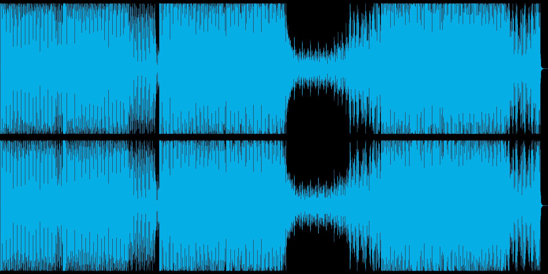 オシャレ・かっこいい系のハウス音楽の再生済みの波形
