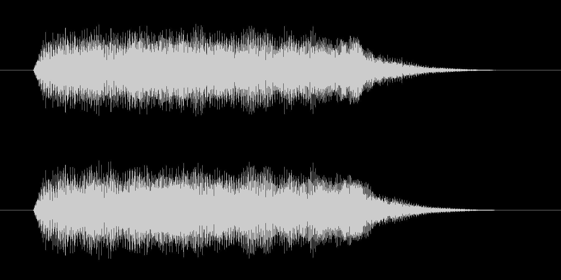 透明感のあるシンセ音(不思議、神秘的)の未再生の波形