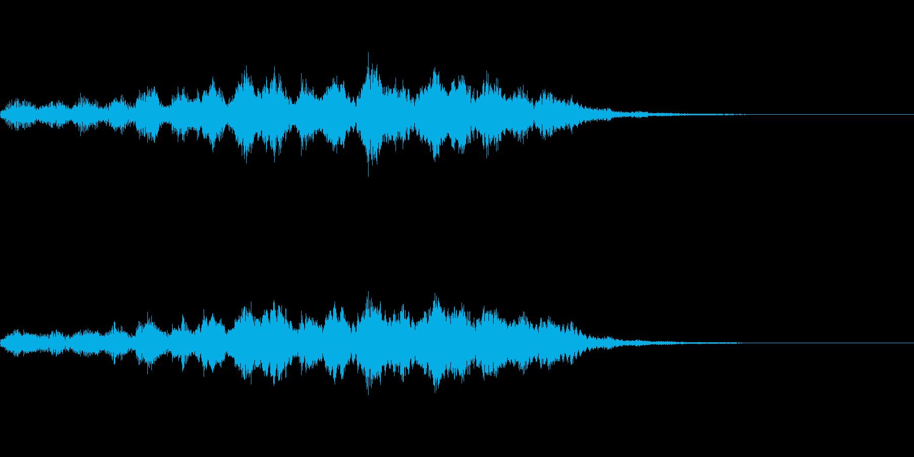 【SE 効果音】奇妙な音4の再生済みの波形