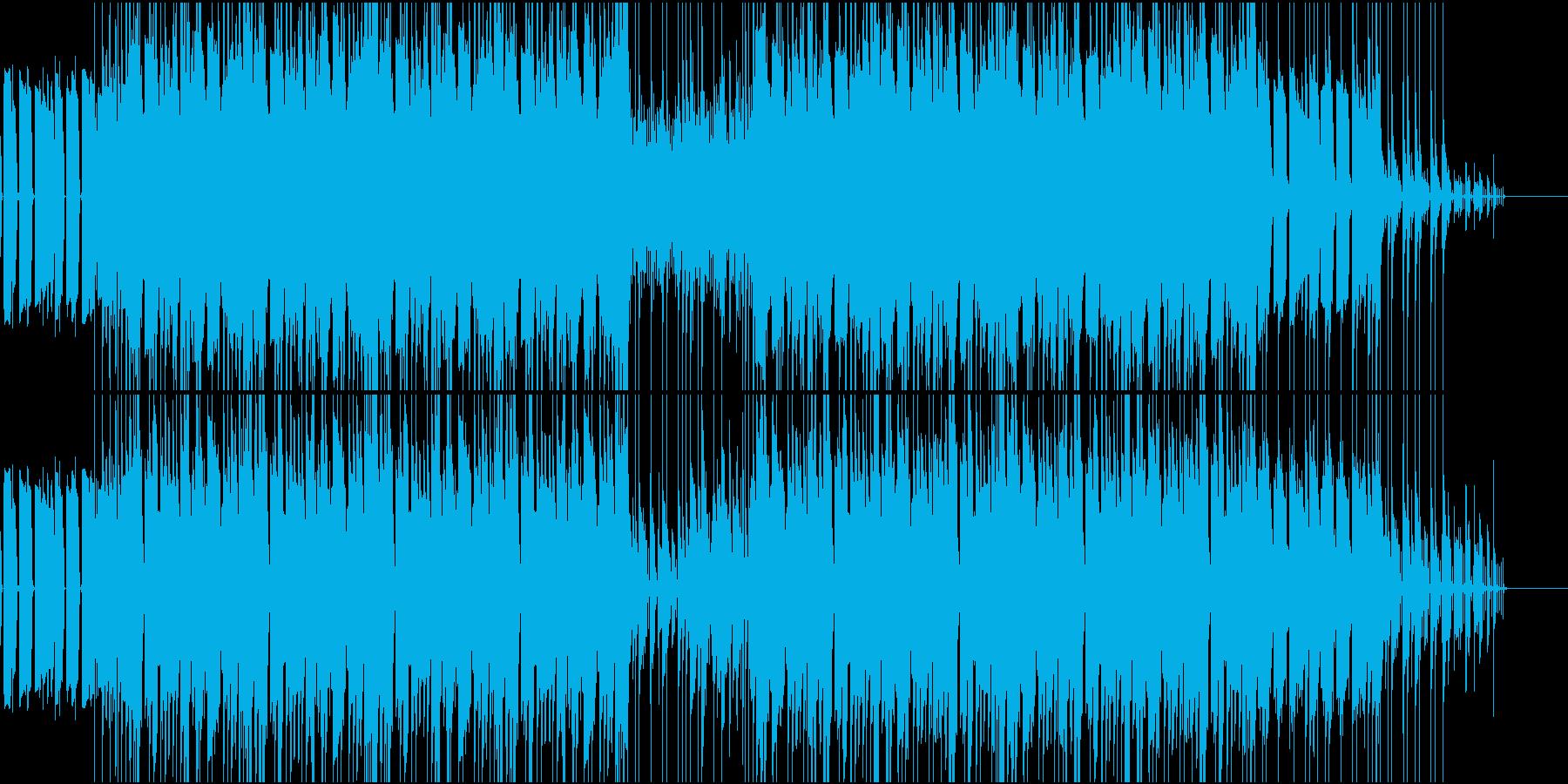 【高クオリティ】ベースから始まるロック調の再生済みの波形