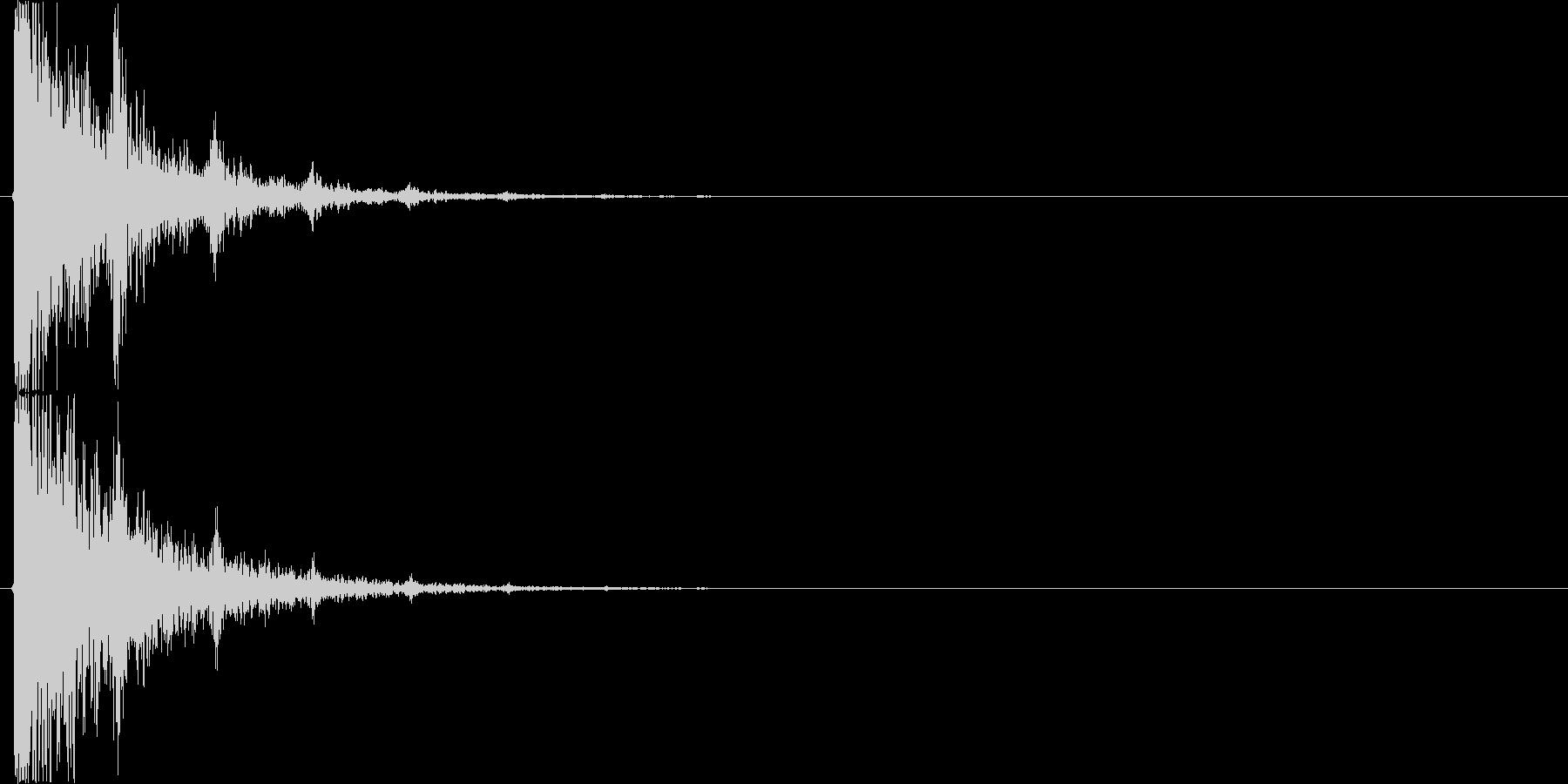 タンタンタンタン…(回想、タンバリン)の未再生の波形