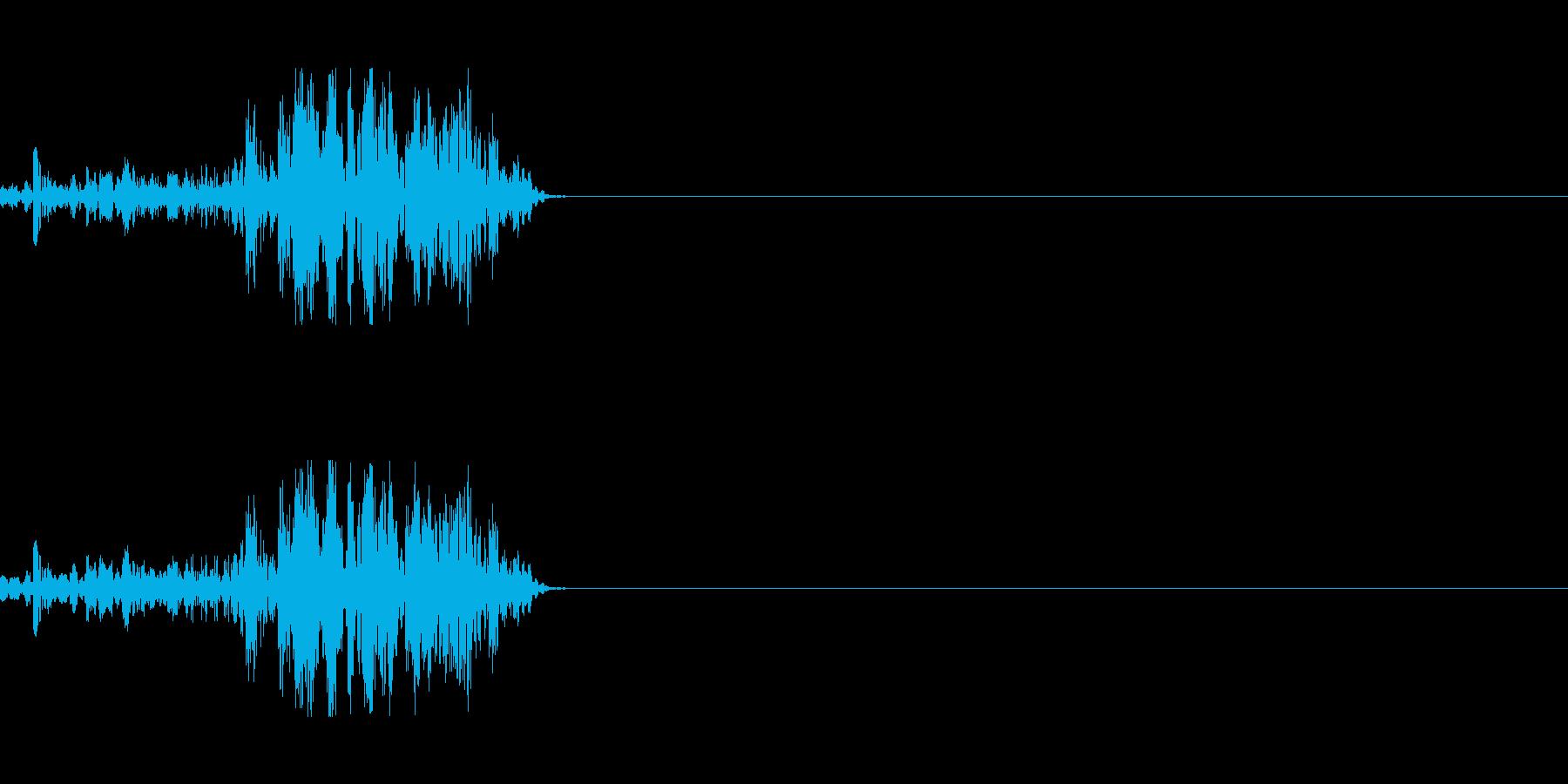 獣の威圧の再生済みの波形