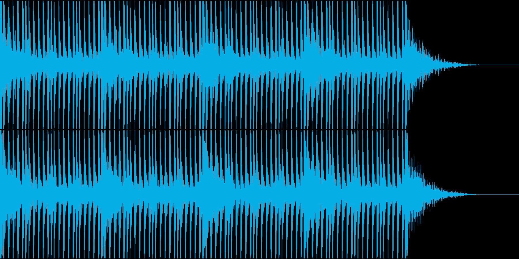 大作映画の予告編的な打楽器リズム1の再生済みの波形