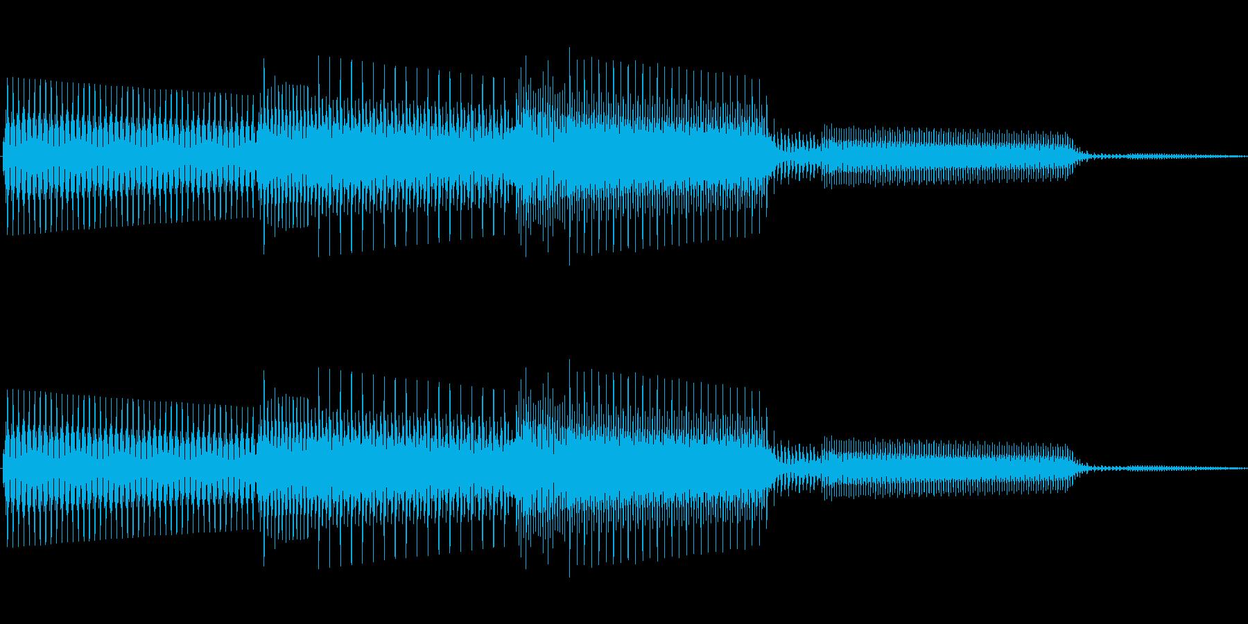 ボタン決定音システム選択タッチ登録B05の再生済みの波形