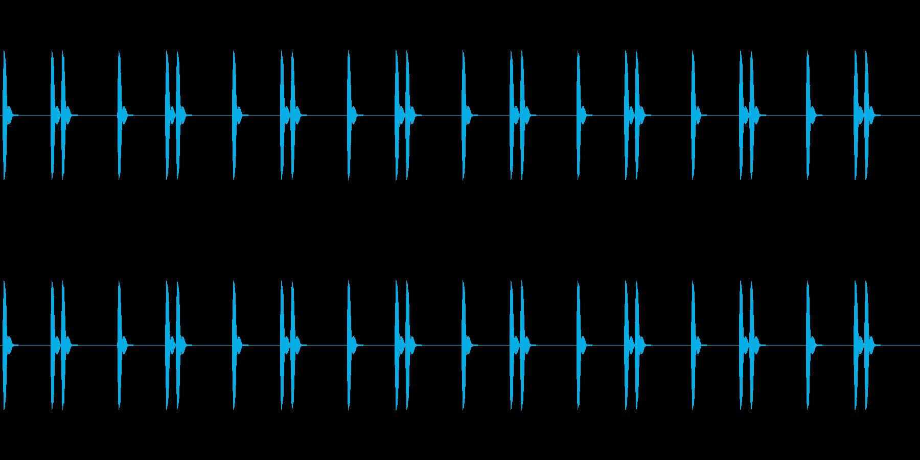 【効果音】信号機_ひよこ(ピヨピヨ)の再生済みの波形
