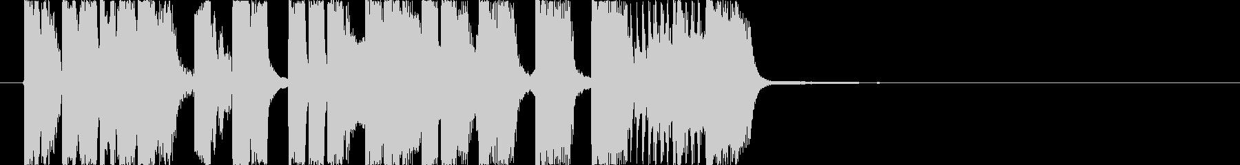 ラジオの切り替わり時などを想定した、軽…の未再生の波形