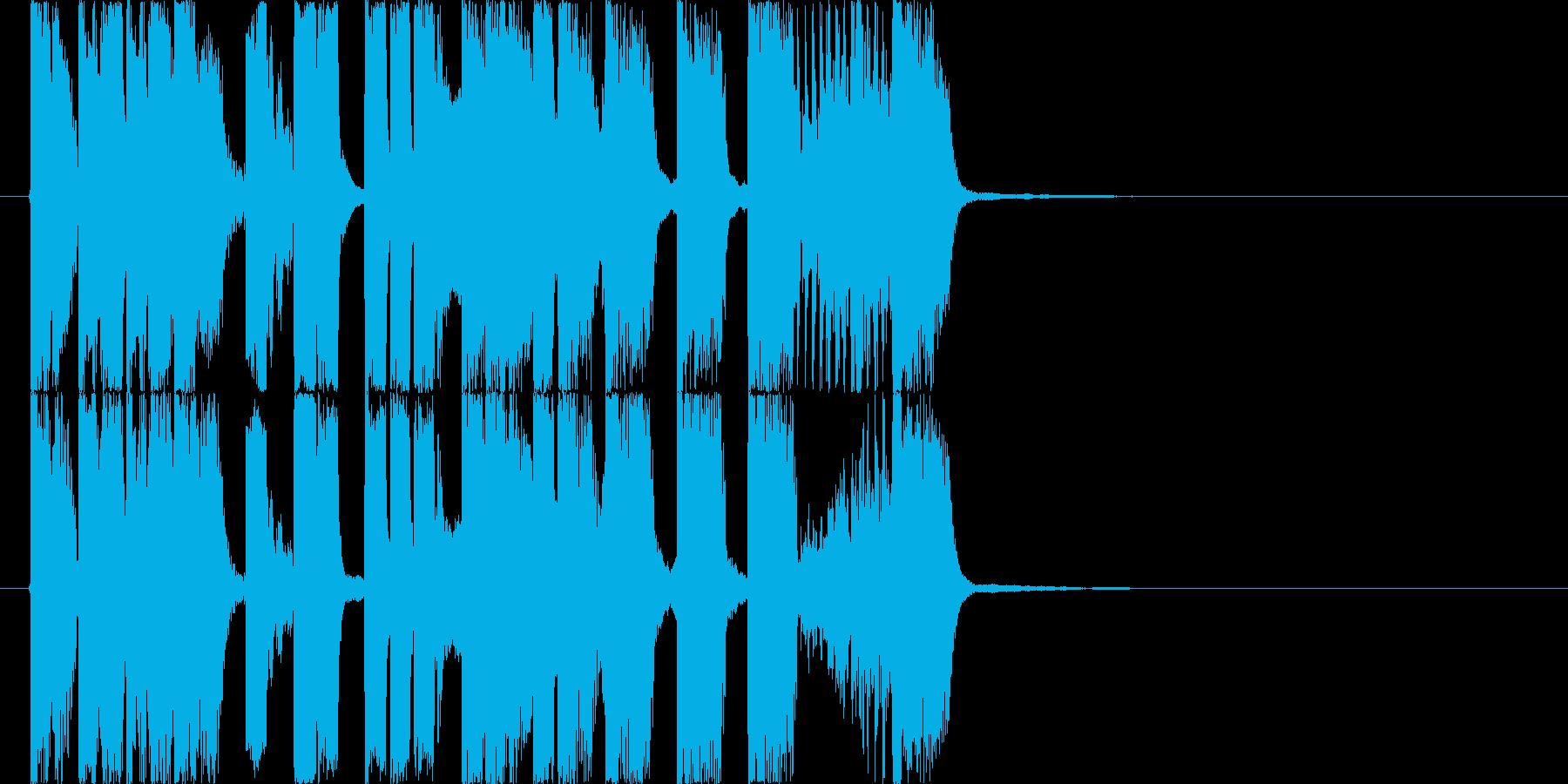 ラジオの切り替わり時などを想定した、軽…の再生済みの波形