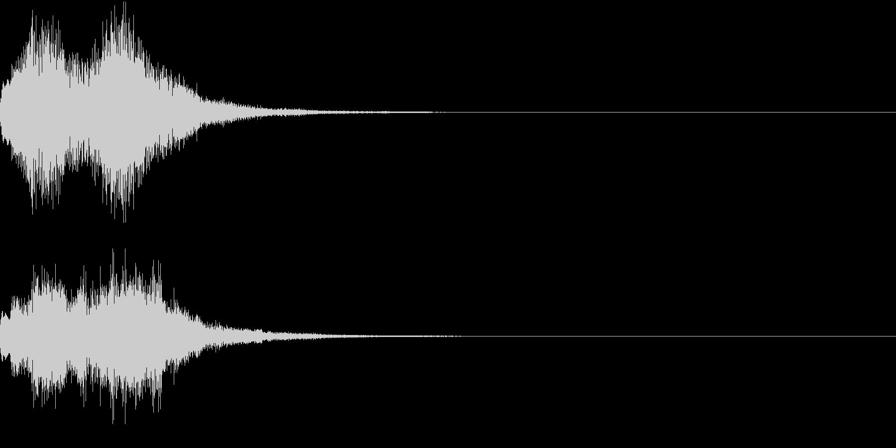 緊急速報のアラート風効果音の未再生の波形