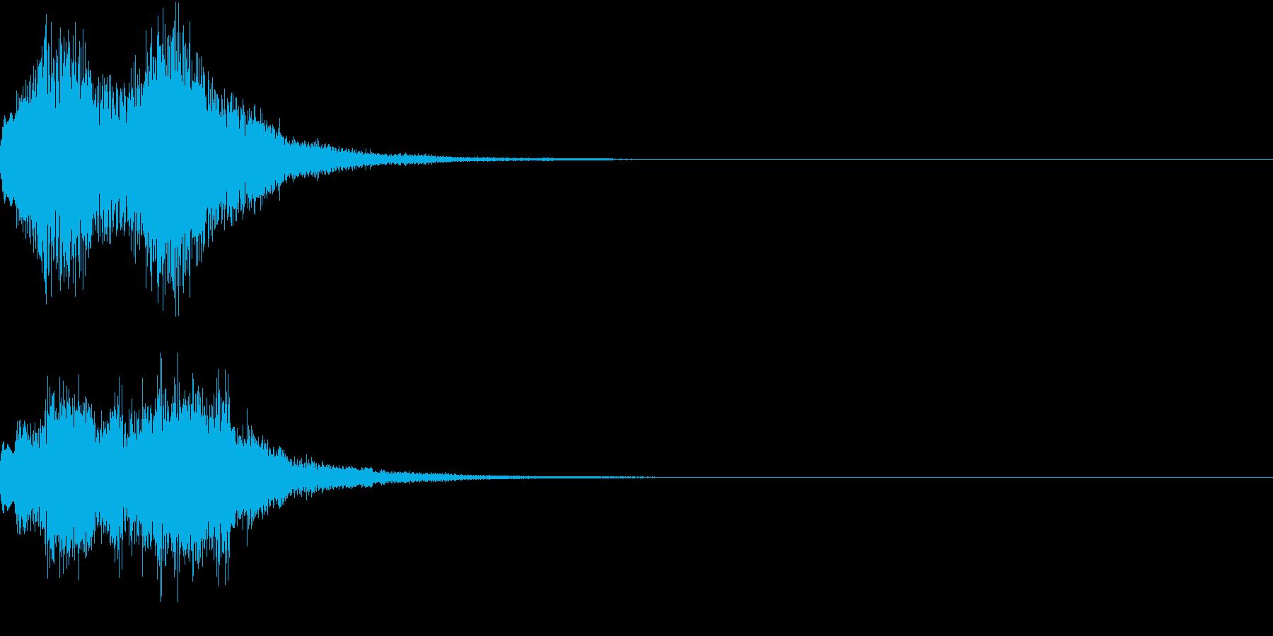 緊急速報のアラート風効果音の再生済みの波形
