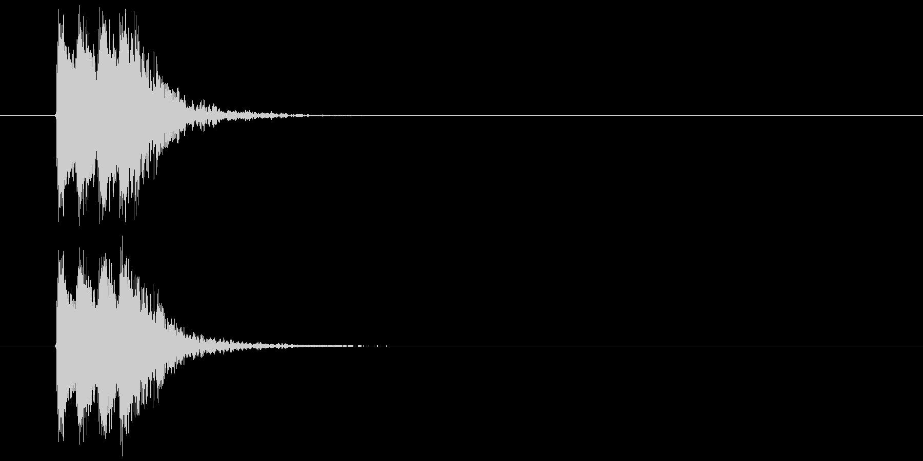 ジャジャンという目立つジングルの未再生の波形