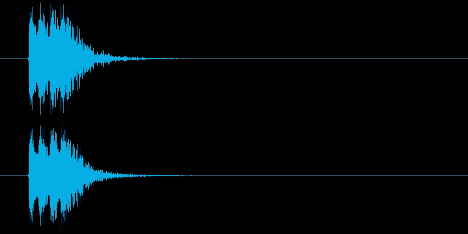 ジャジャンという目立つジングルの再生済みの波形