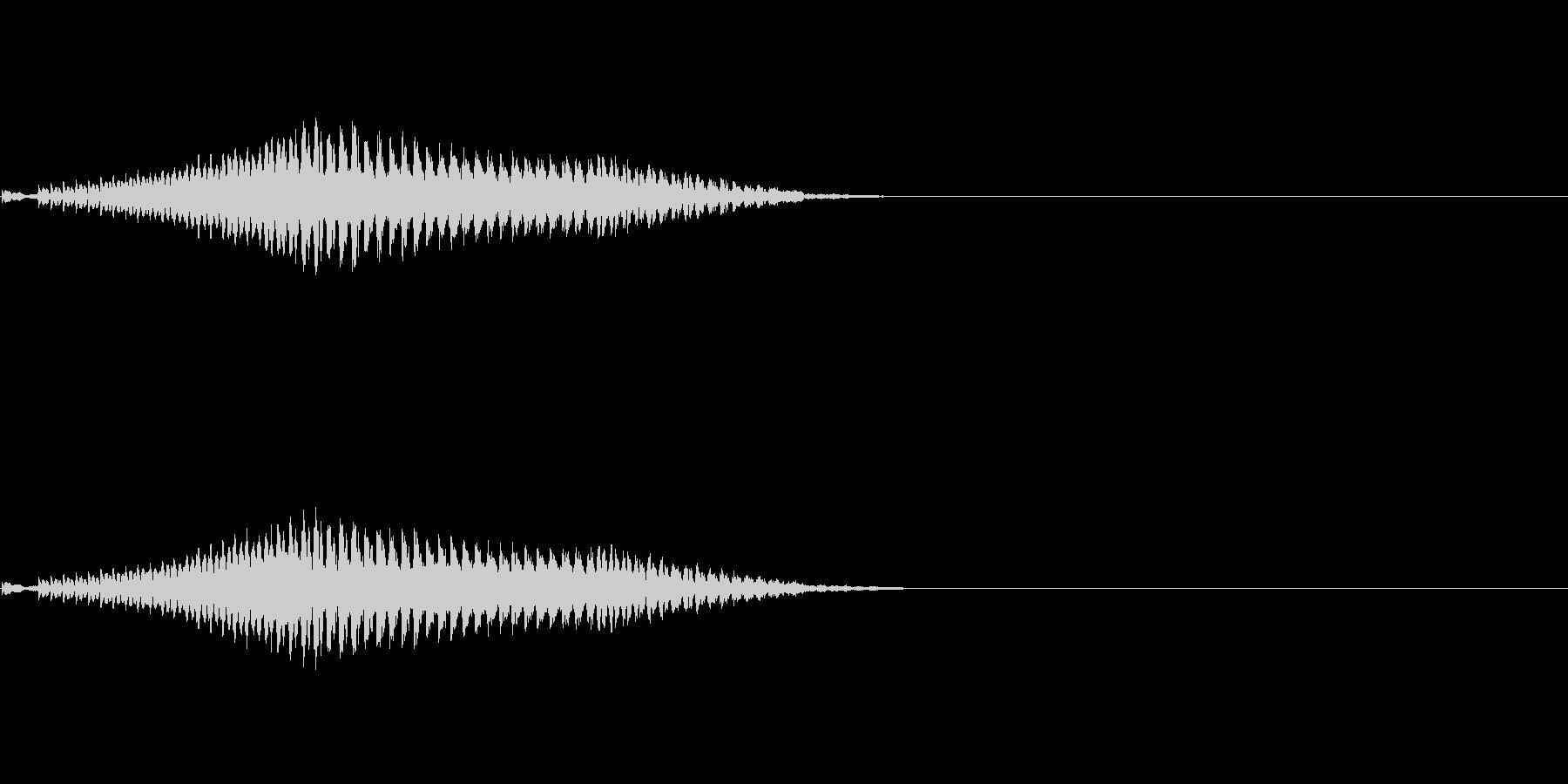弱体化呪文のエフェクトの未再生の波形