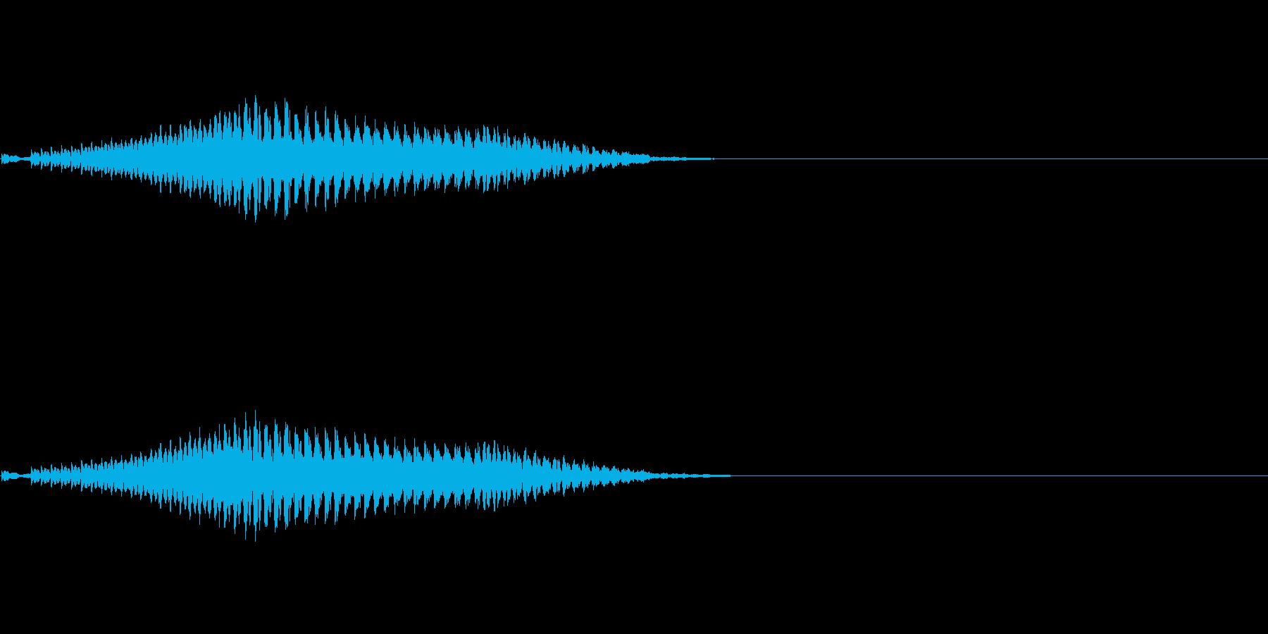 弱体化呪文のエフェクトの再生済みの波形