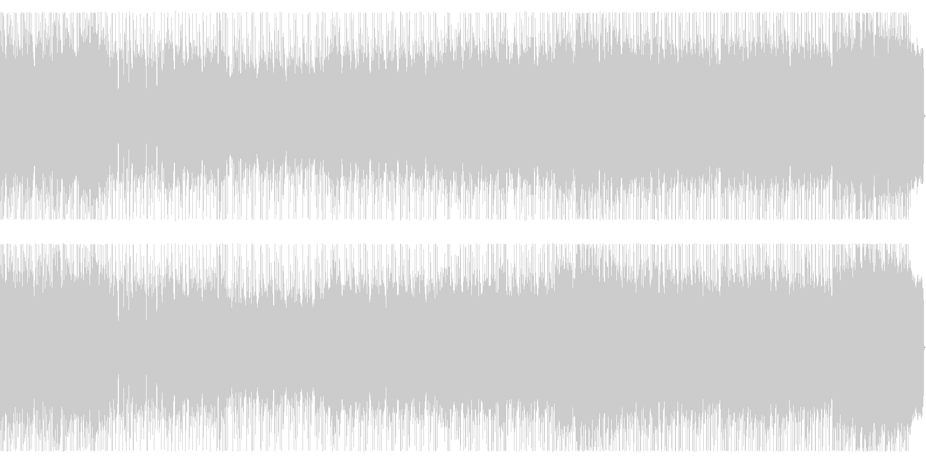 爽快でファンタジックなメタルBGMの未再生の波形
