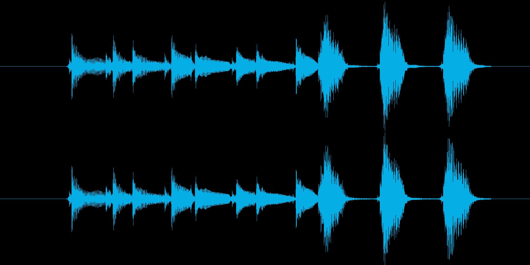 沖縄三線の音でインパクトのある掴みの再生済みの波形