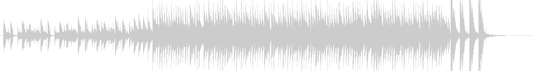 アジア風の電子音とマリンバのジングルの未再生の波形