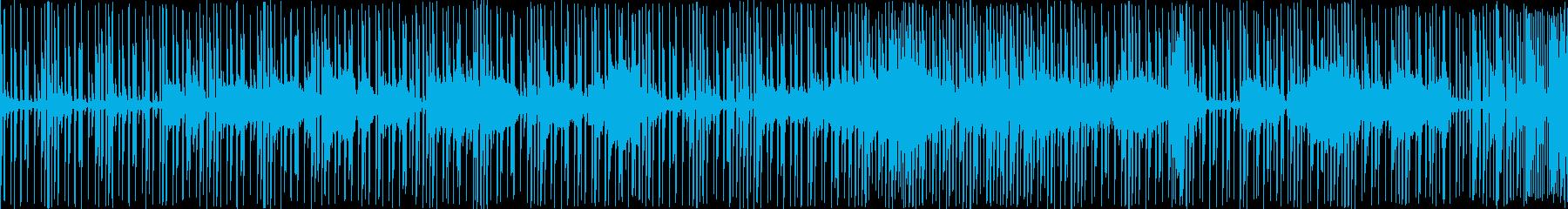 デジタルな和風ホラーの再生済みの波形
