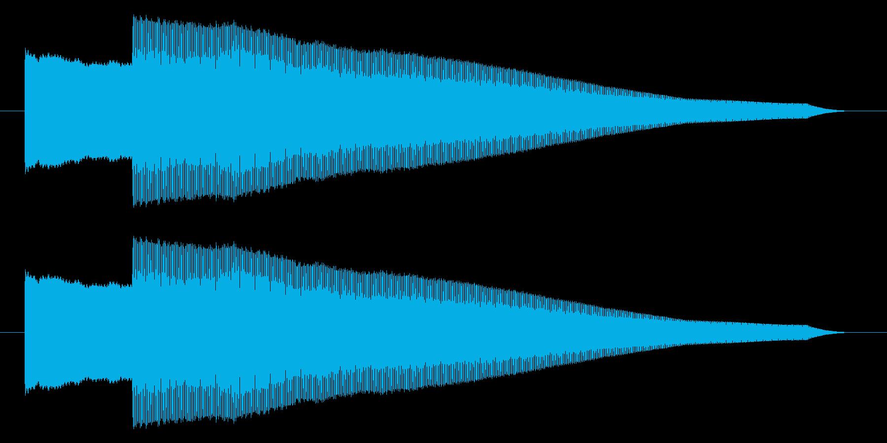 ピコー 決定 スタート 選択 セレクト音の再生済みの波形