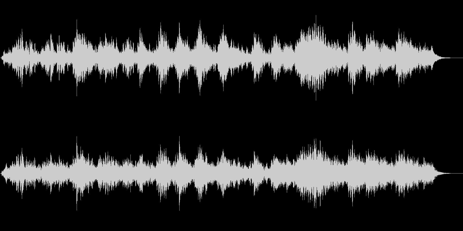 ピアノとシンセパッドの幻想的なジングルの未再生の波形