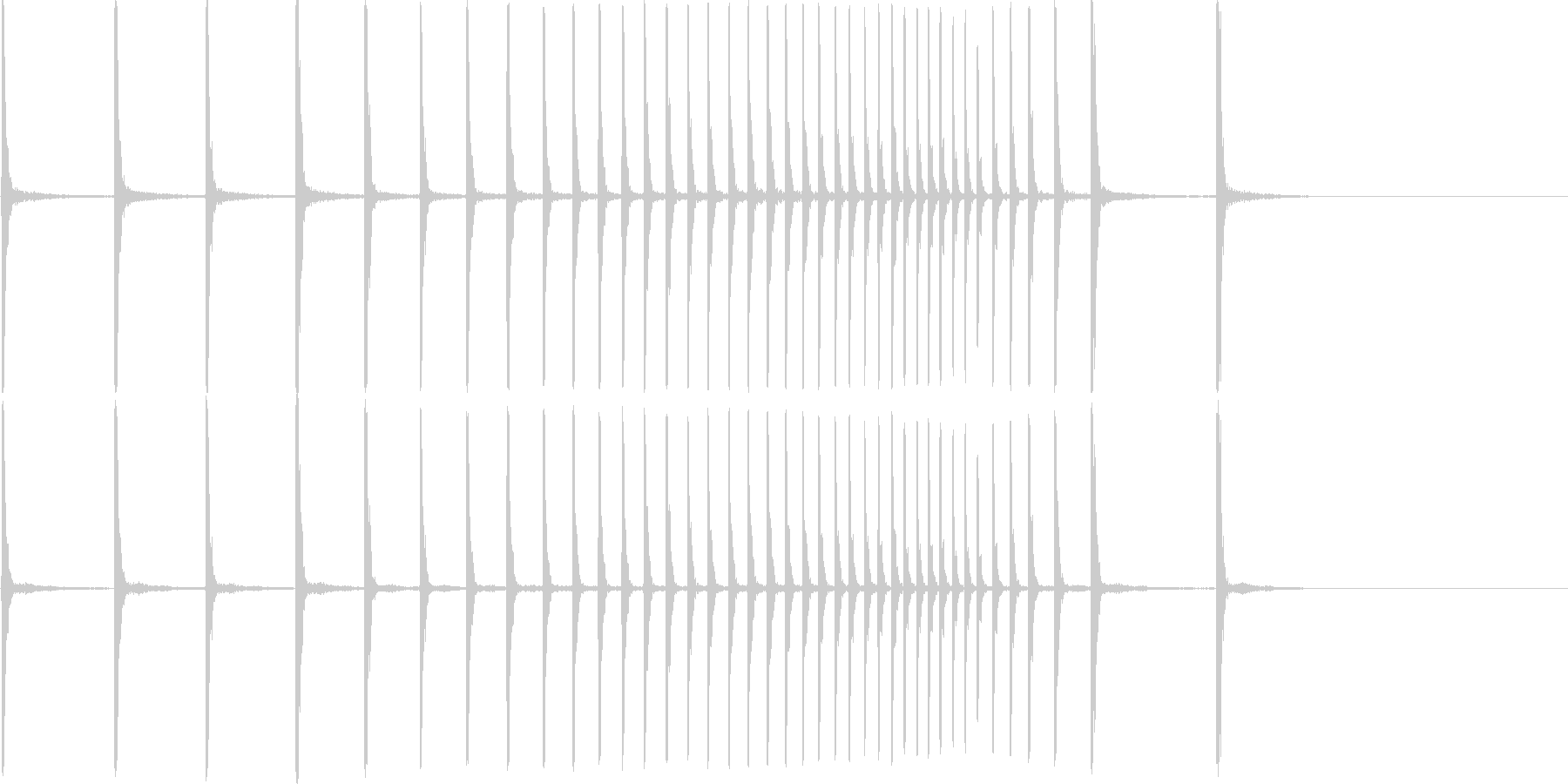 拍子木 かんかん~の未再生の波形