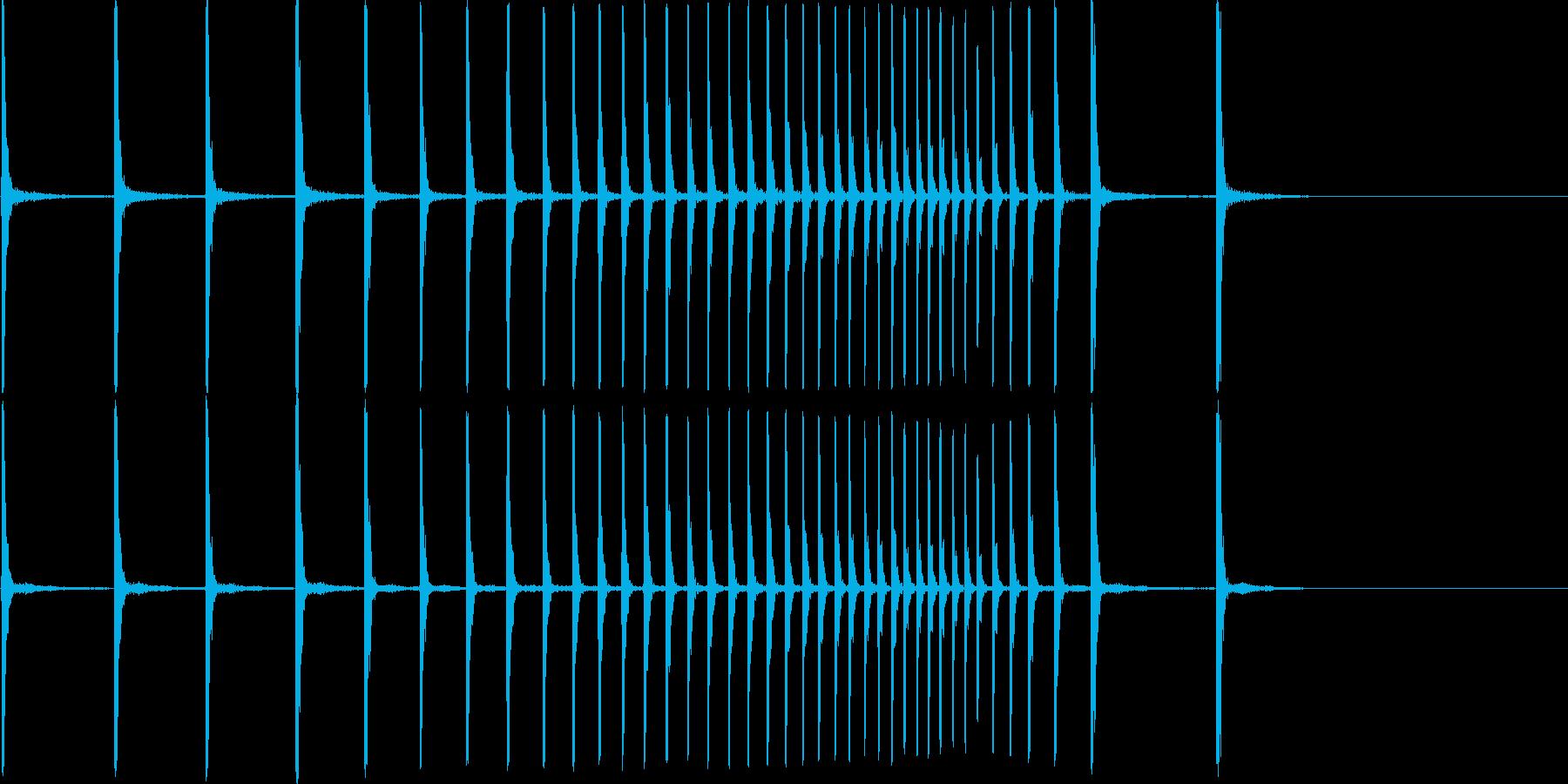 拍子木 かんかん~の再生済みの波形