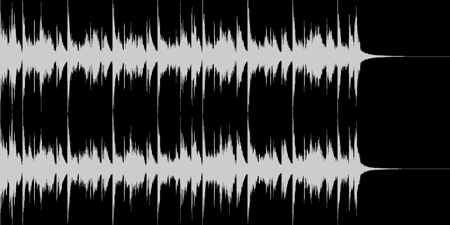 エレピとドラム シンプルなジングル の未再生の波形