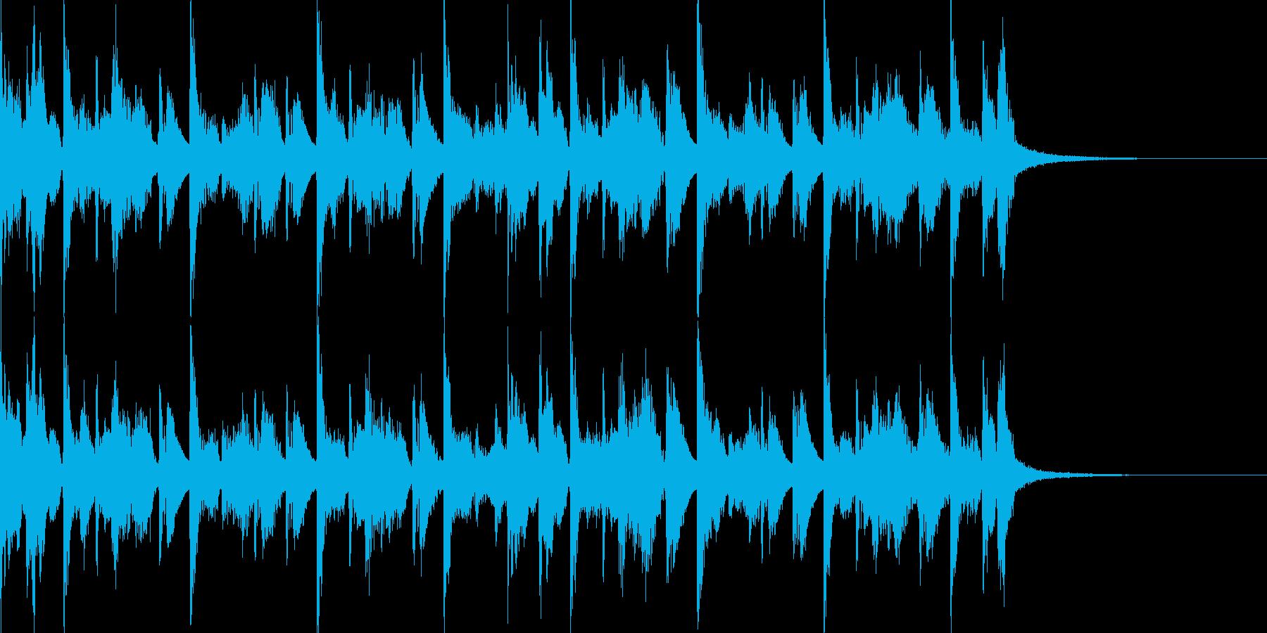 エレピとドラム シンプルなジングル の再生済みの波形