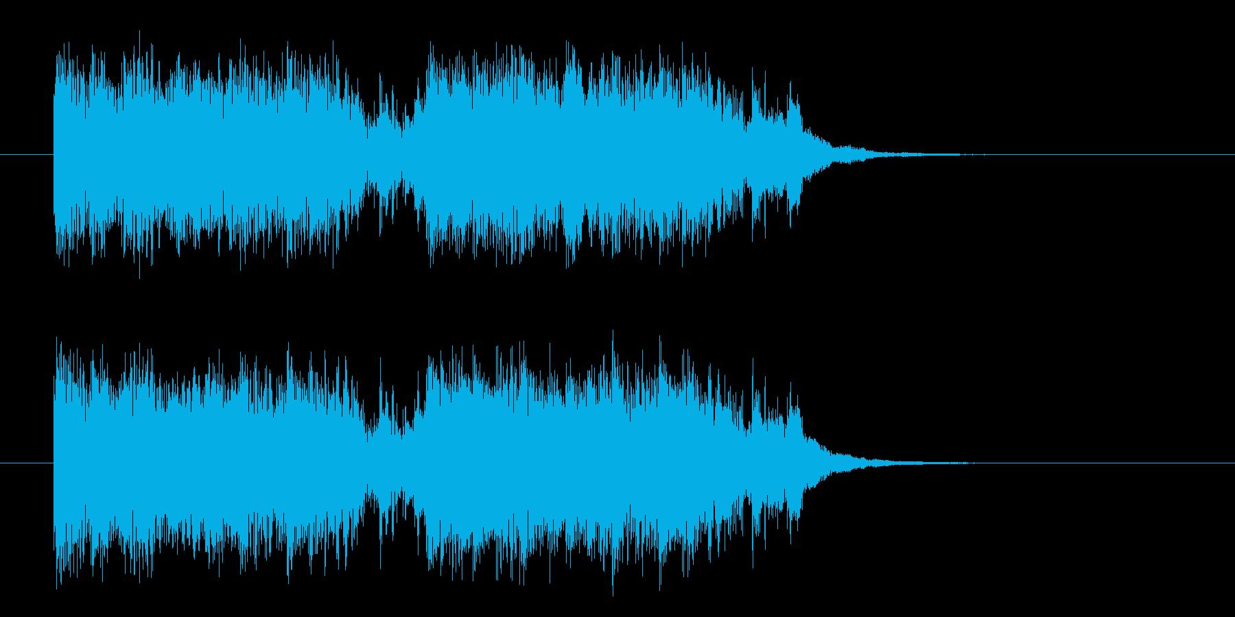 激しく勢いあるギターによるハードロックの再生済みの波形