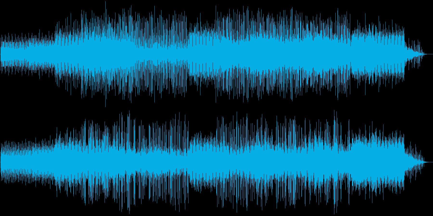 都会的で疾走感のあるテクノポップスの再生済みの波形