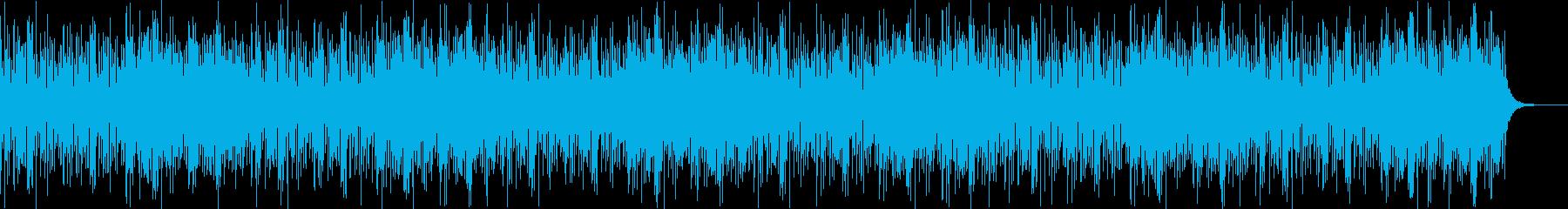 スキャット&民族ボイス風のみの再生済みの波形
